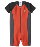 TYR Boys' UPF 50+ Short Sleeve Solid Thermal Suit