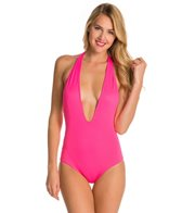 Peixoto Swimwear Flamingo Strip One Piece Swimsuit