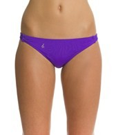 Lo Swim Three-Braid Training Bikini Swimsuit Bottom w/ Free Hair Tie
