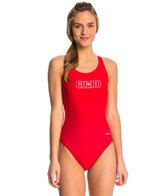 Dolfin Lifeguard Female Solid HP Back One Piece Swimsuit
