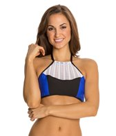 Luxe by Lisa Vogel On Your Mark High Neck Halter Bikini Top