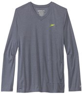 Speedo Men's Heather L/S V-Neck Swim Tee