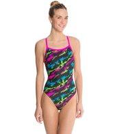 Waterpro Lava Thin Strap One Piece Swimsuit