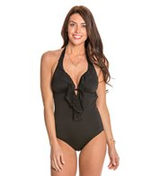 Laundry By Shelli Segal Belladonna Scalloped One Piece Swimsuit