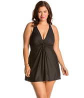 Miraclesuit Plus Size Solid Marais Swimdress
