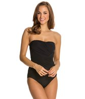 Gottex Lattice Bandeau One Piece Swimsuit