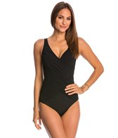 Gottex Lattice Surplice One Piece Swimsuit