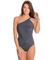 Magicsuit by Miraclesuit Shirred Solid Diana One Shoulder One Piece Swimsuit