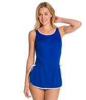 Tuffy Solid Chlorine Resistant Tie Side Swimdress