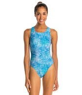 Illusions Activewear Soundwaves Women's Race Back One Piece Swimsuit