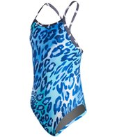 Illusions Activewear Zoo Life Youth Thin Strap One Piece Swimsuit