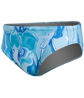 Illusions Activewear Shades of Blue Men's Brief Swimsuit