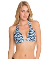 Sunsets High Tide Shirred Halter Bikini Top (D/DD)