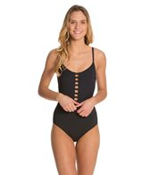 BCBGeneration Candidly Uncovered Over The Top One Piece Swimsuit