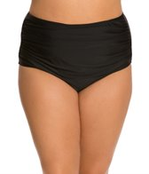 ceeb-plus-size-solid-side-ruched-brief