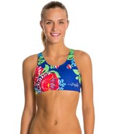 Triflare Women's Race for the Roses Sport Bikini Top