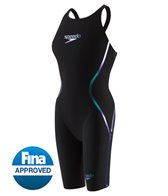 Speedo Women's LZR Racer X Closed Back Kneeskin Tech Suit Swimsuit