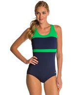 Dolfin Conservative Color Block Lap Suit Swimsuit