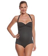 Pez D'or Maternity Montego Bay Pin Spot Jacquard One Piece Swimsuit