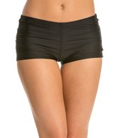 Eco Swim Solid Shirred Side Boyshort Bottom