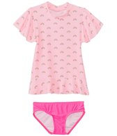 Seafolly Girls' Rainbow Chaser Frill Rashguard Set (6mos-4yrs)