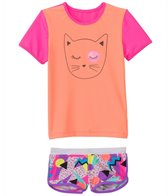 Seafolly Girls' Memphis Meow Rashguard Set (1yr-6yrs)