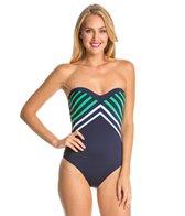 Vitamin A Sail Stripe Bandeau One Piece Swimsuit