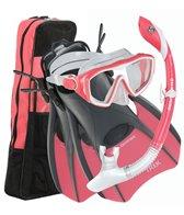 us-divers-womens-diva-lx-mask-island-dry-lx-snorkel-trek-fins-set-with-gear-bag