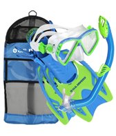 U.S. Divers Jr. Regal Mask, Laguna Snorkel,Trigger Fins Set with Gear Bag