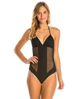 Vitamin A Esperanza Patterned Mesh One Piece Swimsuit
