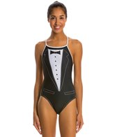 Splish Tuxedo Thin Strap One Piece Swimsuit