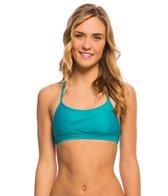 Nike Women's Solid Swoosh Racerback Sport Bra Bikini Top