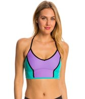 Speedo Women's Laser Cut Crop Bikini Top