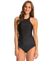Speedo Women's Solid High Neck Tankini Top