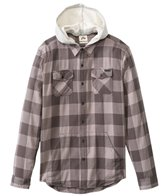 Rusty Men's Ironbark Hooded Long Sleeve Shirt