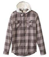 Rusty Men's Ironbark Hooded Long Sleeve Shirt