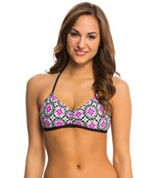 Next Weekend Warrior Plank Reversible Sport Bra Bikini Top