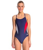 Arena Women's Banner Light Drop Back One Piece Swimsuit
