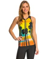 Shebeest Women's Zip Happy Hour Tri Top