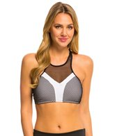 Oakley Women's Sport Mesh Racerback High Neck Sports Bra Bikini Top