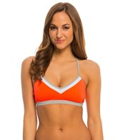 Oakley Women's Sun Blocked Crossback Sports Bra Bikini Top