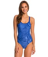 Champion Women's Micro Wings Basketweave Strap One Piece Swimsuit
