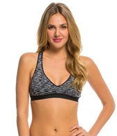 Anne Cole Women's Heather Colorblock Elastic Sports Bra Bikini Top