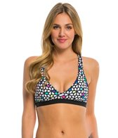 Anne Cole Women's Petal Power Sports Bra Bikini Top