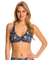 Anne Cole Women's Spinning Floral Sports Bra Bikini Top