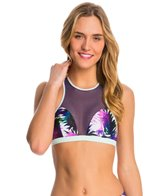 Roxy Women's Carribean Sunset Racerback Sports Bra Bikini Top