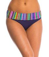 Anne Cole Desert Diamonds Foldover Mid-Rise Bikini Bottom