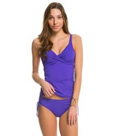 Anne Cole Color Blast Solid Twist Front OTS Underwire Tankini Top