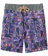 Maaji Men's Boysenberry Traces Long Swim Trunk