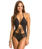 Kenneth Cole Swimwear Sexy Solids Push Up One Piece Swimsuit